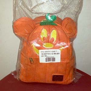 Pumpkin Mickey Mouse Mini Backpack